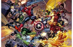 Фотообои Комикс сражение супергероев