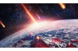 Фотообои Летящие метеориты