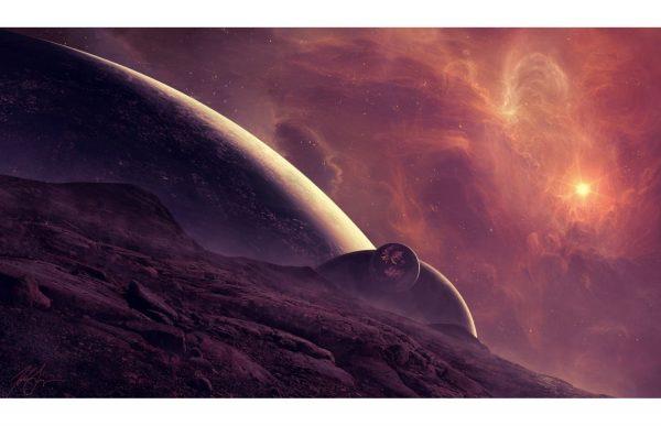 Фотообои Начало парада планет