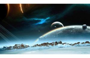 Фотообои Горизонт галактики