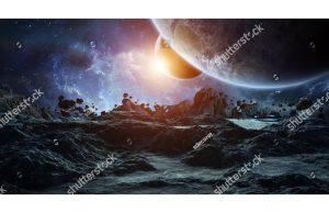 Фотообои Исследование астероида