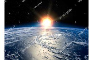 Фотообои Свет горящей звезды