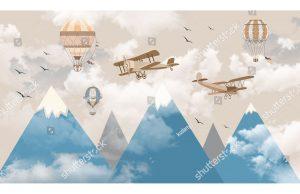 Фотообои Полет над горами