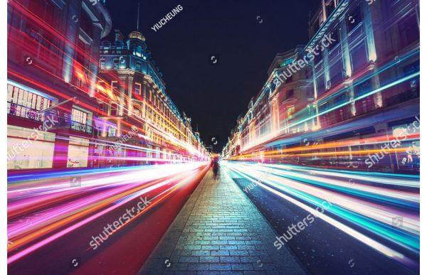Фотообои Ночная улица