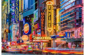 Фотообои Ночная жизнь Нью-Йорка