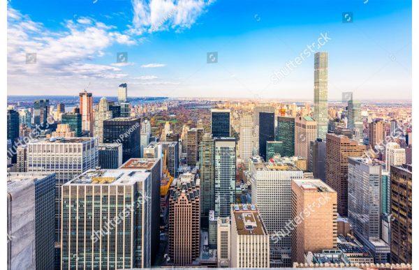 Фотообои Городской пейзаж Манхеттена