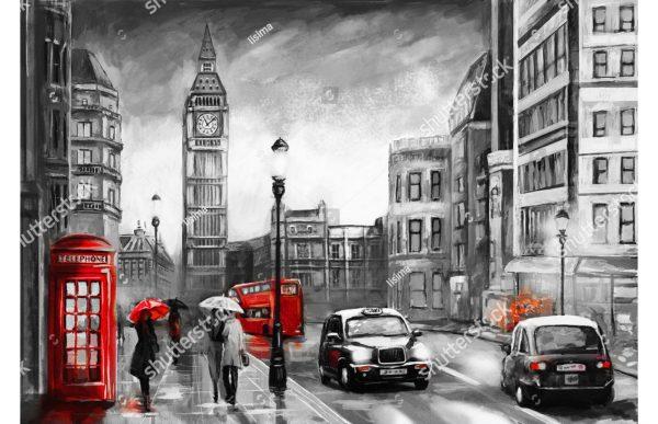 Фотообои Рисунок - улица Лондона