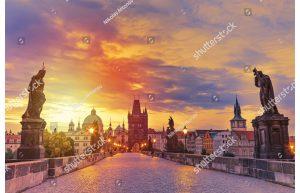 Фотообои На Карловом мосту. Прага