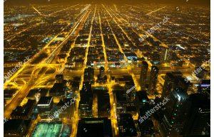 Фотообои Огни большого города