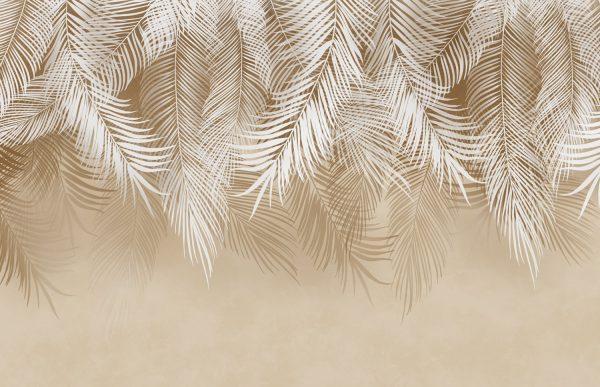 Фотообои Бежевые листья пальмы
