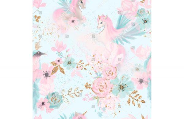 Фотообои Единороги в цветах