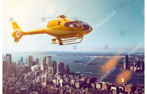 Фотообои Вертолет над Нью Йорком