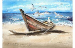 Фотообои Деревянная лодка
