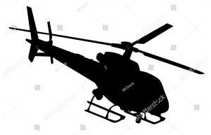 Фотообои Вертолет ЧБ