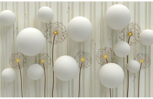 Фотообои Одуванчики и шары