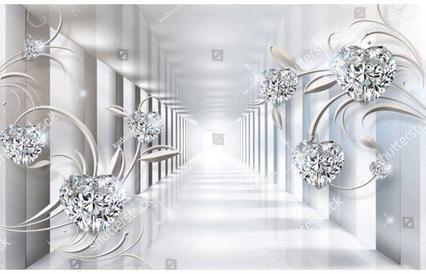 Фотообои Прямой тоннель с бриллиантами