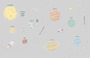 Фотообои Планеты солнечной системы (светлая)