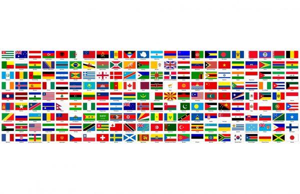 Фотообои Флаги 198 стран