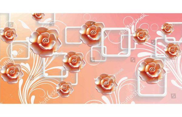 Фотообои Квадраты и цветы