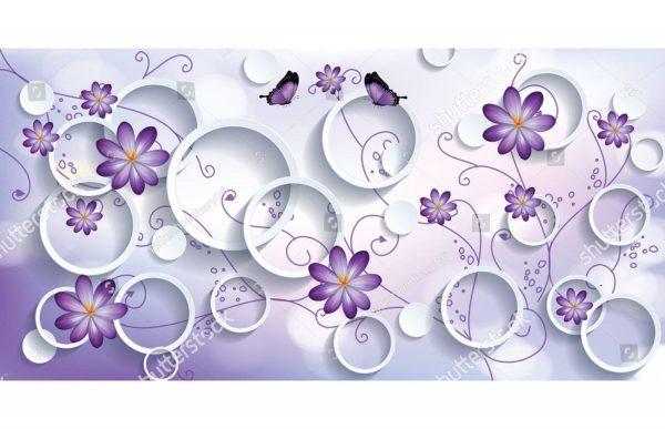 Фиолетовые Круги и цветы