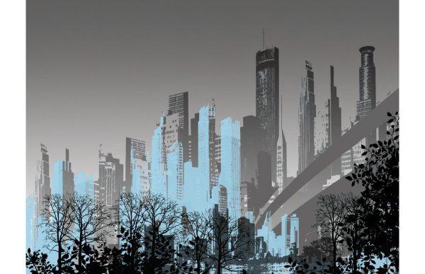 Фотообои Серый город