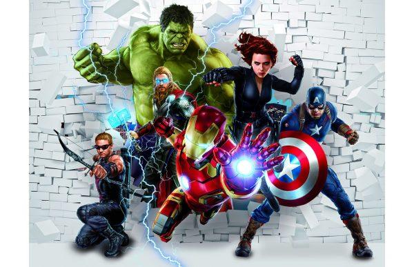 Фотообои Мстители через стену