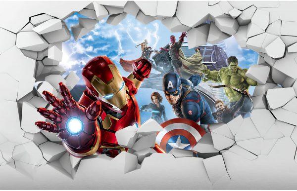 Фотообои Мстители сквозь стену