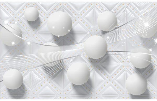 Фотообои Белые 3D шары