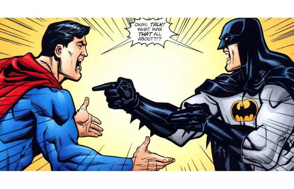 Фотообои Бэтмен против Супермена комикс